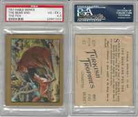 T57 Turkish Trophies, Fable Series, 1910, The Bear and Fox, PSA 4.5 VGEX+