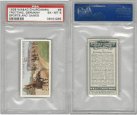 C82-81 Churchman, Sports & Games, 1929, #8 Horse Trotting, Germany, PSA 6 EXMT
