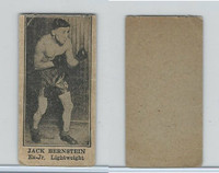 W Card, Strip Card, Boxing, 1920's, Jack Bernstein