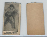 W Card, Strip Card, Boxing, 1920's, George Calza, Wrestler