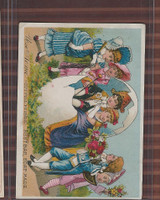 Victorian Card, 1890's, Acme Soap, Children, Egg, Romance