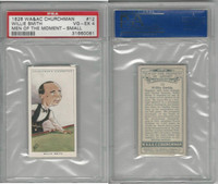 C82-66 Churchman, Men Moment, 1928, #12 Willie Smith, Billiards, PSA 4 VGEX