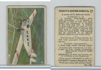 C110 Tuckett Ltd, Tucketts Aviation Series, 1929, #27 Junkers