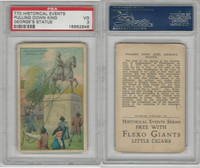 T70 ATC, Historical Events, 1910, Pull Down King George Statue, PSA 3 VG