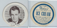 F Card Dixies Ice Cream, Movie Stars, 1970's, Alan Ladd