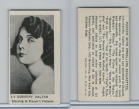 T85-3 Tobacco Products, Strollers, Movie Stars, 1922, #110 Dorothy Dalton