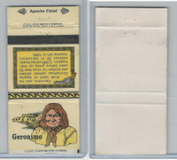 MB Matchbook, Ohio Match Company, Indian Chiefs, 1979, Geronimo