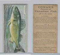 V10 Cowan, Pictures Canadian Fish, 1924, Pickerel