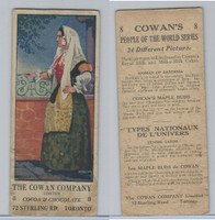 V18 Cowan, People Of The World, 1920's, #8 Woman of Sardinia (With Coupon)