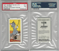 B0-0 Barratt, Tom & Jerry, 1971, #11 Mouse Catching, PSA 7 NM