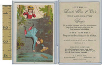 Victorian Card, 1890's, Acme Soap, Oh Dear, Willie Will Be Drowned