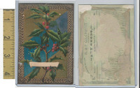Victorian Card, 1882, Gilchrist Dry Goods, Boston, Calendar, Holly (B)