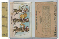 K69 McLaughlin Coffee, Die Cut Designs, 1890, Circus, Dogs Play Music