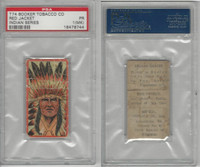 T74 Booker Tobacco, Indian Series, 1906, Red Jacket, PSA 1 MK