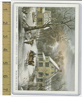 W Card Museum New York, Currier & Ives, American Homestead Winter