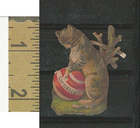 Victorian Diecuts, 1890's, Cats, Constancy, Ball (7)