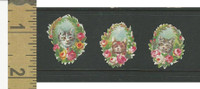 Victorian Diecuts, 1890's, Cats, Three Kittens Flowers (18)