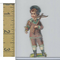Victorian Diecuts, 1890's, Children, (44) Bow Holding Cross Bow