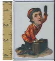 Victorian Diecuts, 1890's, Circus & Fairs, Shoe Shine Boy (16)