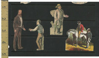 Victorian Diecuts, 1890's, Culture & People, (28) Lot of Four Men Cutouts