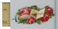 Victorian Diecuts, 1890's, Flowers, (109) Hand, Affection's Offering