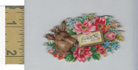 Victorian Diecuts, 1890's, Flowers, (110) Deer, Winter Scene