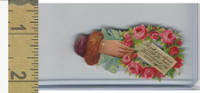 Victorian Diecuts, 1890's, Flowers, (112) Hand, Let Not Your Silence