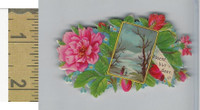 Victorian Diecuts, 1890's, Flowers, (113) Absent But Dear