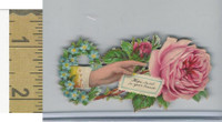 Victorian Diecuts, 1890's, Flowers, (114) Hand, Hope Swell in Your Breast