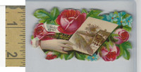 Victorian Diecuts, 1890's, Flowers, (115) Hand, Forget Me Not