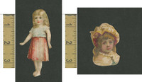 Victorian Diecuts, 1890's, Girls, Lot of Two Cutouts (13)