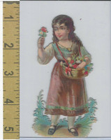 Victorian Diecuts, 1890's, Girls, Basket, Flowers (23)