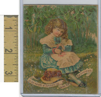 Victorian Diecuts & Cards, 1890's, Girls, Warmth of Summer Ray (27)