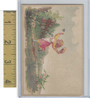 Victorian Diecuts & Cards, 1890's, Girls, Chasing Butterfly (28)