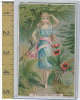 Victorian Diecuts & Cards, 1890's, Holidays, Christmas Greetng, Girl (3)