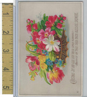 Victorian Diecuts & Cards, 1890's, Holidays, Christmas Joy, Flowers (5)