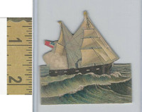 Victorian Diecuts & Cards, 1890's, Ships & Nautical, (25) Ship Cutout