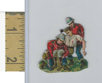 Victorian Diecuts, 1890's, Soldiers, (96) British, Carrying Wounded