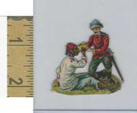 Victorian Diecuts, 1890's, Soldiers, (98) British Giving Water