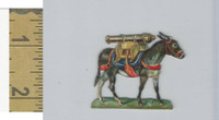 Victorian Diecuts, 1890's, Soldiers, (102) Donkey, Cannon