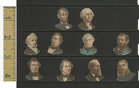 Victorian Diecuts, 1890's, US History, (3) Lot of Presidents, Lincoln Washington