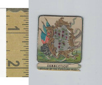 Victorian Diecuts, 1890's, US History, State Seals, Connectiut