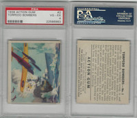 R1 Goudey, Action Gum, 1938, #2 Torpedo Bombers, PSA 4 VGEX