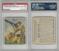 R1 Goudey, Action Gum, 1938, #11 The Infantry Moves In, PSA 6 EXMT