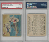 R1 Goudey, Action Gum, 1938, #22 Attack On Carrier, PSA 3 VG