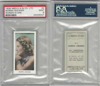 A5-18 Abdulla, Screen Stars, 1939, #3 Norma Shearer, PSA 9 Mint