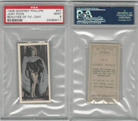 P50-91b Phillips, Beauties Of To-Day, 1938, #47 Judy Puck, PSA 9 Mint