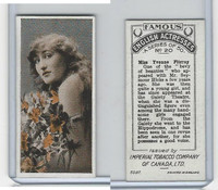 C9 Imperial Tobacco, Famous English Actresses, 1924, #20 Yvonne Fitzroy