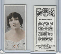 C9 Imperial Tobacco, Famous English Actresses, 1924, #33 Madge Compton