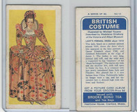 B0-0 Brooke Bond Tea, British Costume, 1967, #14 Lady's Formal Dress